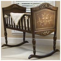 Old World Cradle, Green Frog Art Cradle, Luxury Cradle