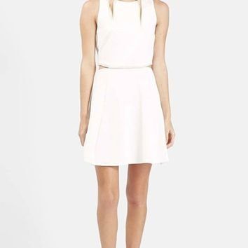 Women's Topshop Embellished Waist Fit & Flare Dress,