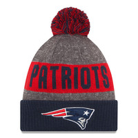 NFL New England Patriots New Era Heather Gray 2016 Sideline Official Sport Knit Hat