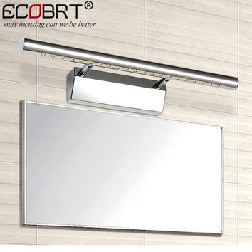 Modern 5W 7W 9W 12W led bathroom mirror lights wall lamps new for indoor stainless steel decoration lighting freeshipping