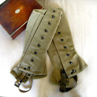 Vintage military leggings - Corp. O'Reilley marched like he had 2 right feet