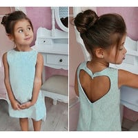 Toddler Kids Baby Girls Summer Elegant Dress Sleeveless Princess Party Pageant Dresses