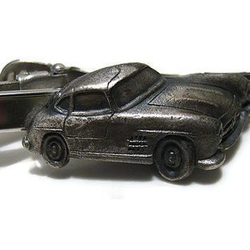 Silver Tone and Pewter Anson Vintage Car Tie Clip