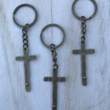 Cross Key Chain #J1008