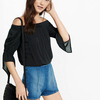 Smocked Off The Shoulder Blouse from EXPRESS