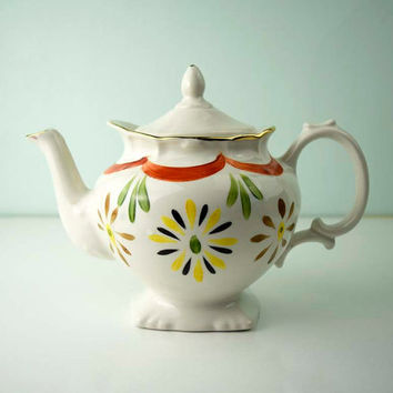 Vintage Price Kensington Made in England Majestic Square Foot Teapot