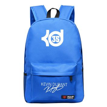 New Fashion Kevin Durant Rucksack High Quality Boy Girl School Bags For Teenagers Casual Canvas Backpack Mochila Escolar