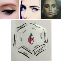 Multifunction Stencils Eyeliner 6 in 1 Stencil For Eye Liner Template Card Eyeliner Template Drawing Makeup Stencil Tool