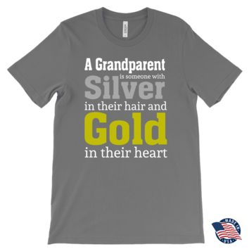 """Silver and Gold"" Grandparent Made in USA Men's T-Shirts"