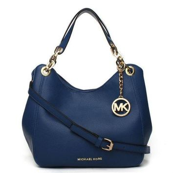 PEAPNQ2 Michael Kors MK Leather Handbag Tote Shoulder Bag Satchel