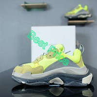 Really Cheap Balenciaga Triple S Neon Yellow new sneaker
