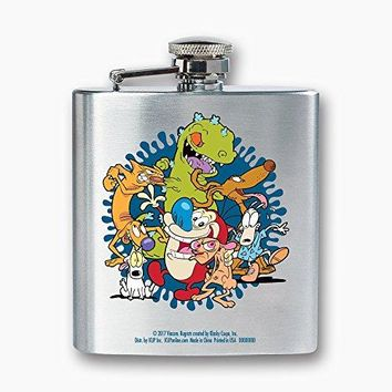 ICUP Nickelodeon  Nick 90s Animated Legends Dance 8oz Stainless Steel Flask