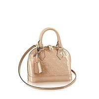 Louis Vuitton Monogram Vernis Leather ALMA BB Cross-Body Carry Handbag Article: M50567 MORDORE