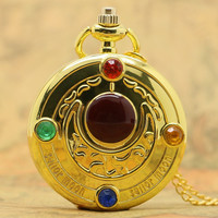 Famous Fashion Colorful Anime Sailor Moon Series Gift Women Lady Girl Pocket Watch P384