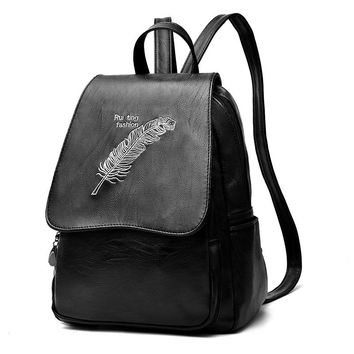 2017New Fashion Women Backpack Leather Backpack Women Travel Bag College Preppy School Bag For Teenagers Girls Mochila Femininas