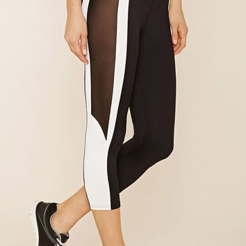 Active Stripe Mesh Leggings