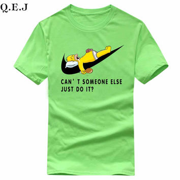 Simpson can't some else just do it print brand t shirts Unisex Cotton Casual Shirt White Top Tees men's clothing Big Size:XS-XL