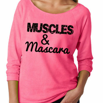 Muscles and Mascara. Women's Sweatshirt. fitness hoodie. workout shirt. workout hoodie. workout hoodies. sweatshirt. hoodie. Gym shirt.