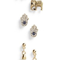 Women's Topshop Assorted Stud Earring 3-Pack - Gold Multi