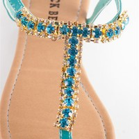 Glitzy Girl Jeweled Thong Sandals  from Sandals at Lucky 21 Lucky 21