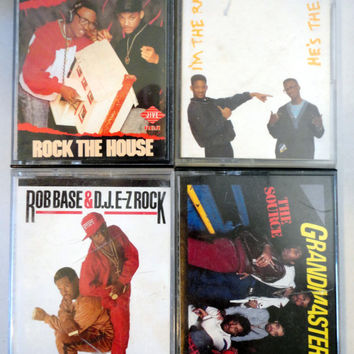 oLd SchOOl HiP HoP RaP cassette tape LoT vintage music cassettes collection Fresh Prince Rob Base Dj Ez Rock