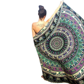 Lovely Pets Round Hippie Tapestry Beach Throw Roundie Mandala Towel Yoga Mat Bohemian sep5