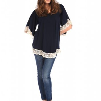 Veronica M Lace Trim Tunic