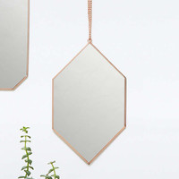 Copper Diamond Hanging Mirror - Urban Outfitters
