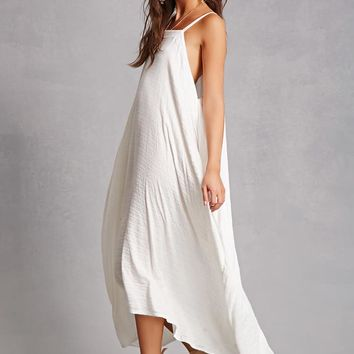 Slub Knit Trapeze Midi Dress