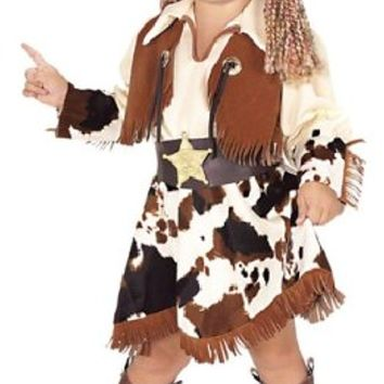 Yarn Babies Cowgirl Kid's Halloween Costume, Size 4-6, Ages 3-4