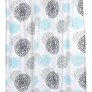 BenandJonah Collection Fabric Shower Curtain 70 x 72 inch  Floral Design