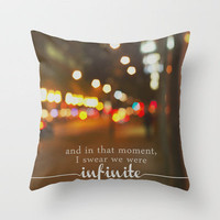 perks of being a wallflower - we were infinite Throw Pillow by Lissalaine | Society6