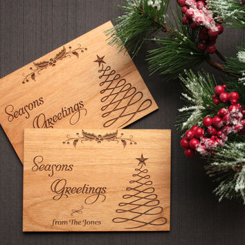 Wooden Postcards - Wooden Christmas Cards