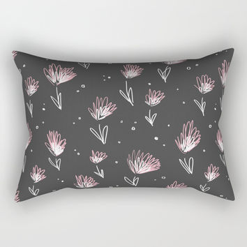 Doodle Garden Rectangular Pillow by MidnightCoffee