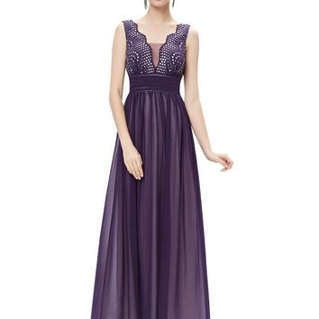 Evening Dresses Ever Pretty HE08019 Double V-neck Sequined Bust Ruched Waist Black Long 2017 vestidos