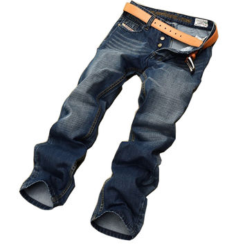 Classic top designer famous brand straight men jeans fashion Europe and America style  robin denim jeans man MJ12