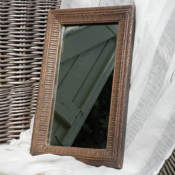 French vintage mirror, rustic French mirror, small vintage mirror, mirror French, rustic, french country home, cottage chic, country home