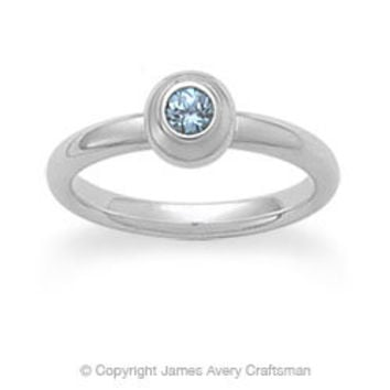 Avery Remembrance Ring with Blue Zircon (December) from James Avery