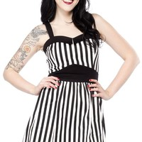 SWITCHBLADE STILETTO PRINCESS DRESS STRIPE BLK/WHT