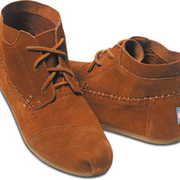CHESTNUT SUEDE WOMEN'S TRIBAL BOOTS