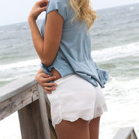 Gale Scallop Shorts