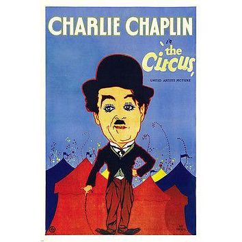 CHARLIE CHAPLIN THE CIRCUS movie poster ICONIC VAGABOND colorful 24X36