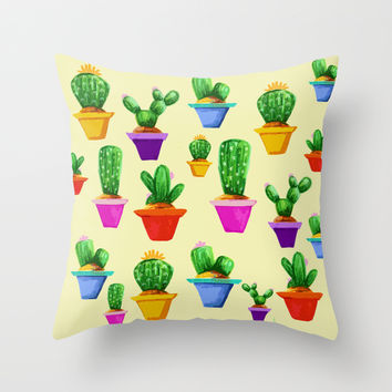 Don't Prick Yourself Throw Pillow by Traci Maturo Illustrations