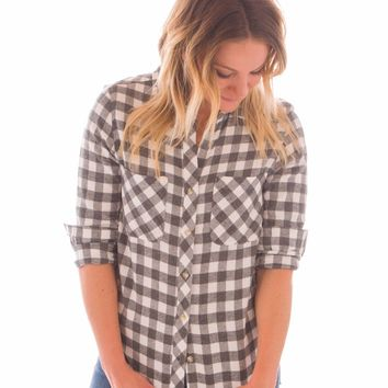 Bad Plaiditude Button Up Flannel Shirt