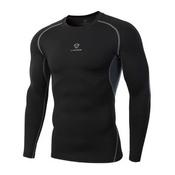 Quick Drying Sport Men Fitness Compression Shirt Gym Bodybuilding Long Sleeve Runnng T-shirt Crossfit Tops Shirts
