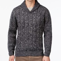Weatherproof Cable-Knit Shawl-Collar Sweater | macys.com