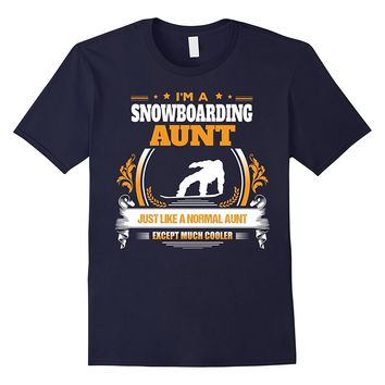 Funny Snowboarding Aunt Tshirt Christmas Gift for Aunt