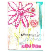 Happiness Blooms from Within Canvas Wall Art | Hobby Lobby | 573444