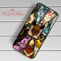 Pokemon Eevee Evolution - zZzA for  iPhone 4/4S/5/5S/5C/6/6+s,Samsung S3/S4/S5/S6 Regular/S6 Edge,Samsung Note 3/4