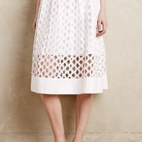 Eclipsed Eyelet Skirt by Floreat White